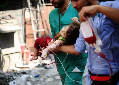 Syrische Ärzte arbeiten unter Beschuss