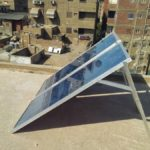 solar panels on a roof in syria