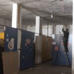 Travaux d'aménagement d'un jardin d'enfants pour orphelins de guerre à Erbin.